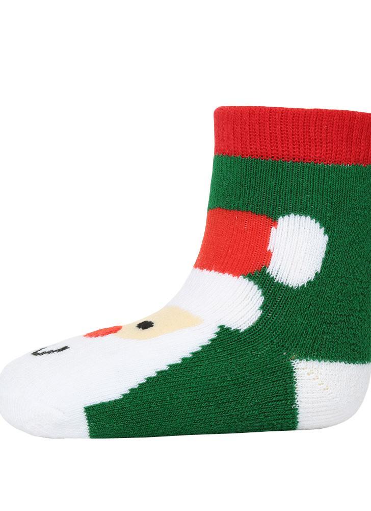 5 Mode Jungen-Mädchen-Weihnachtssocken Weihnachtsmann Schneemann ...