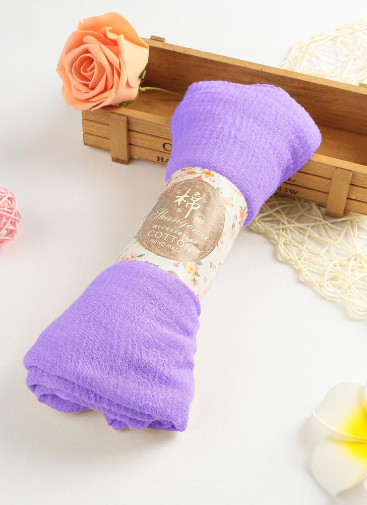 Mode Frauen Hijab Bubble Plain Langen Schal
