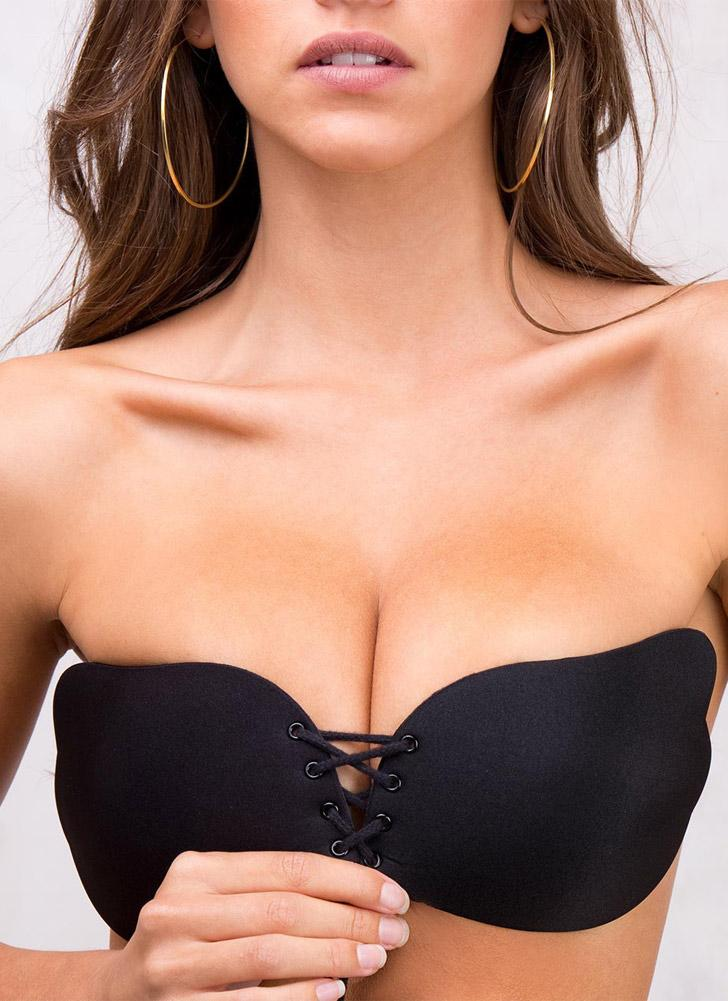 Women's Strapless Push Up Wing Silicone Adhesive Invisible Bra