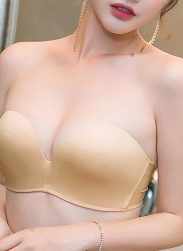 c2ca0f0ef7 Sexy Lace Strapless Lined Lift Support Push Up Invisible Women s Bra