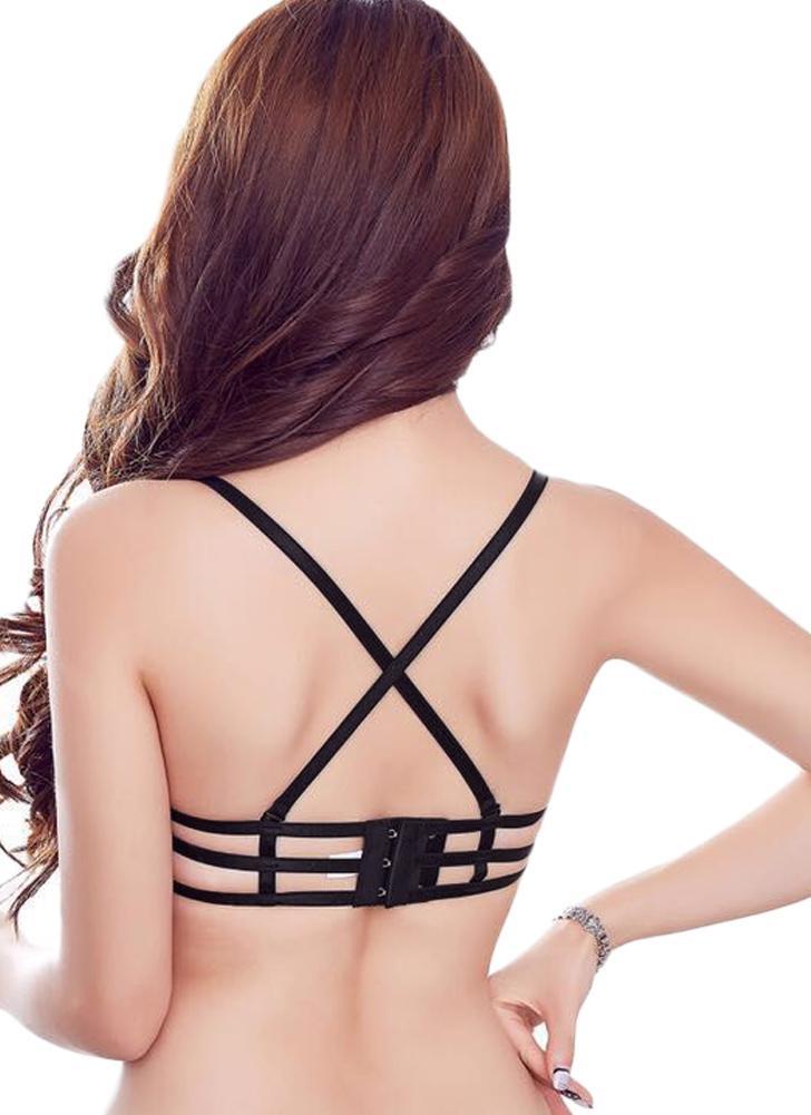 Sexy Bandages Lace Up Push Up Мягкие регулируемые ремни Женские бюстгальтеры