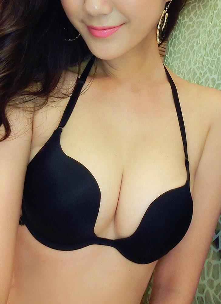 Sexy Underwire Push Up acolchoado Bralette Halter Plunge Solid Women's Bra