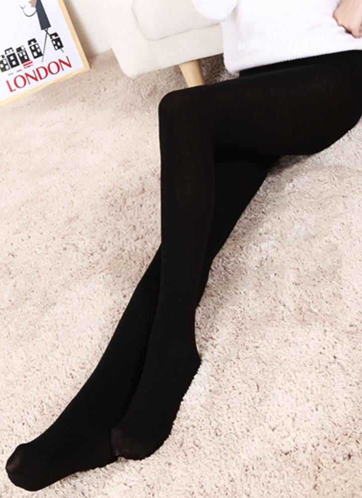 Sexy Women Autumn Winter Solid High Elastic Skinny Warm Leggings