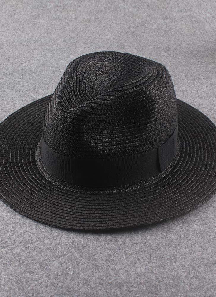 Las mujeres de moda de nuevo recorte de cinta de sombrero de paja Alón  plegable verano a9c1d71679c