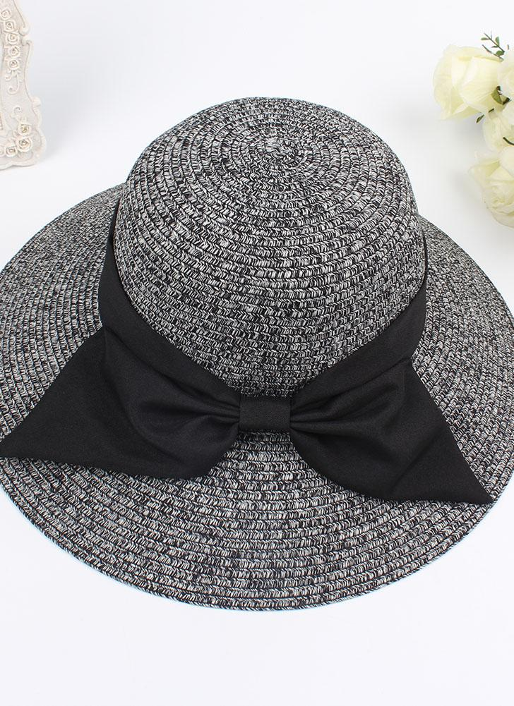 da08b283b2f Fashion Women Sun Hat Big Bow Wide Brim Foldable Straw Hat Summer Beach Sun  Protection Hat
