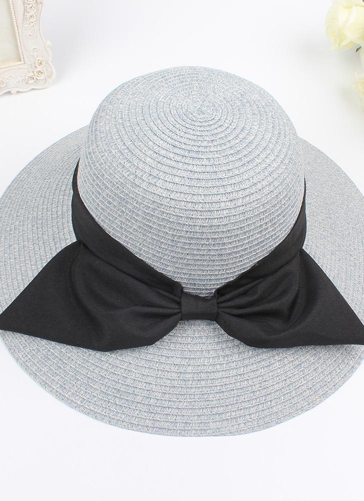 Fashion Women Sun Hat Big Bow Wide Brim Foldable Straw Hat Summer Beach Sun Protection Hat Cap