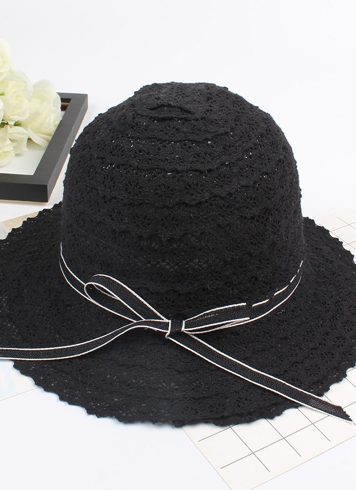 ff4ec4a86f7d black Summer Fashion Women Straw Floppy Hat Wide Brim Bowknot Foldable Sun  Beach Holiday Casual Cap - Chicuu