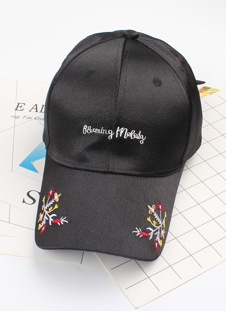 Nueva Mujer Chicas Cap Carta Bordado Floral Béisbol Deporte Casual Hip-Pop Streetwear Sombrero Plano