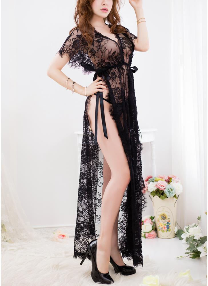 Robe Erotic G-string Тонг Intimates Lace Lingerie