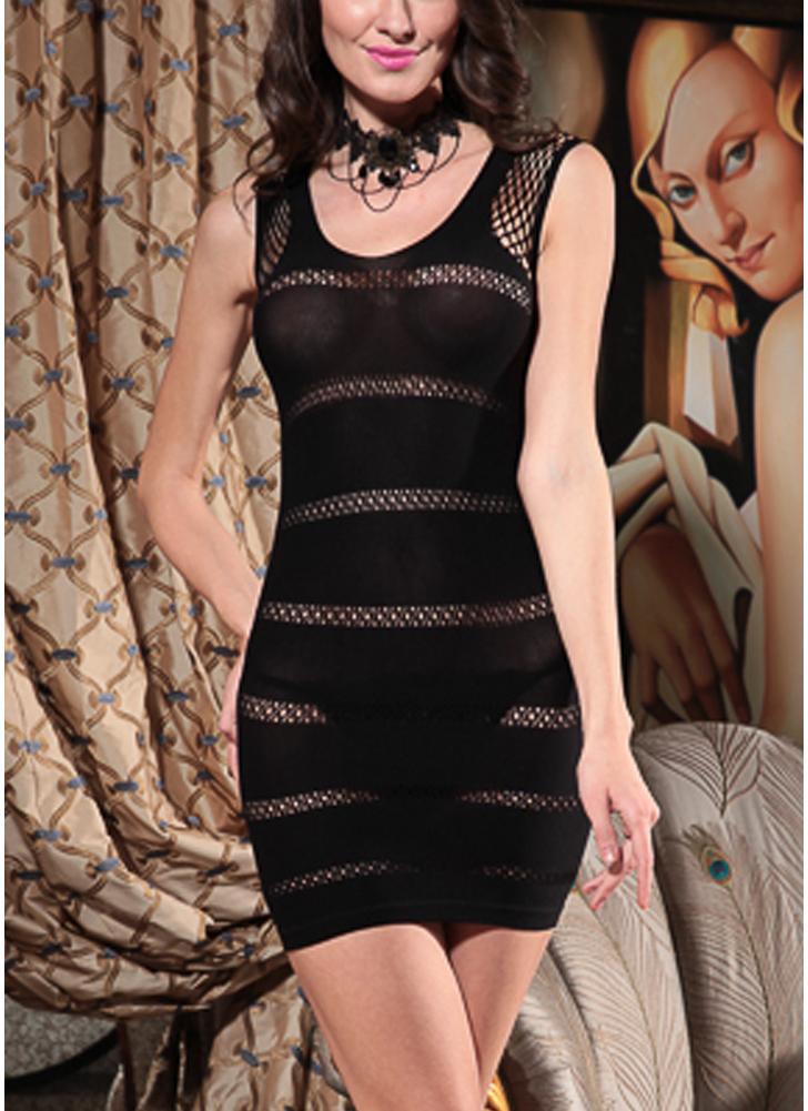 schwarz einheitsgröße Frauen Durchsichtig Dessous Kleid Aushöhlen ...