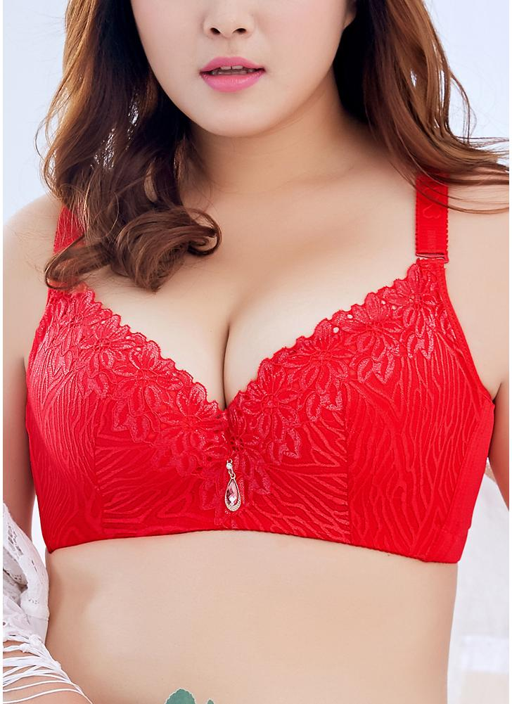 Plus Size 3/4 Cup Spitze Push Up BH