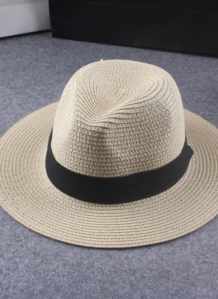 Donne di moda estate Floppy paglia cappello tesa larga pieghevole sole  spiaggia vacanza Casual Cap bianco 2ad2be93c8ab