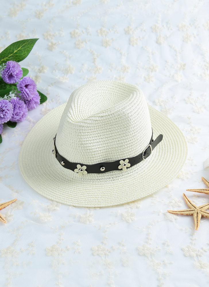 beige Sombrero Color sólido de color caqui/Beige de verano playa de ...