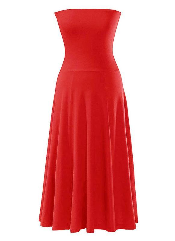 Сексуальная мода женщины Дамы платье бикини прикрыть без бретелек Купальники лето пляж юбка красный