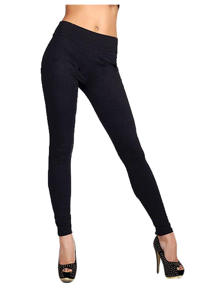Trendy Solid Color Zipper High Waist Stretchy Leggings