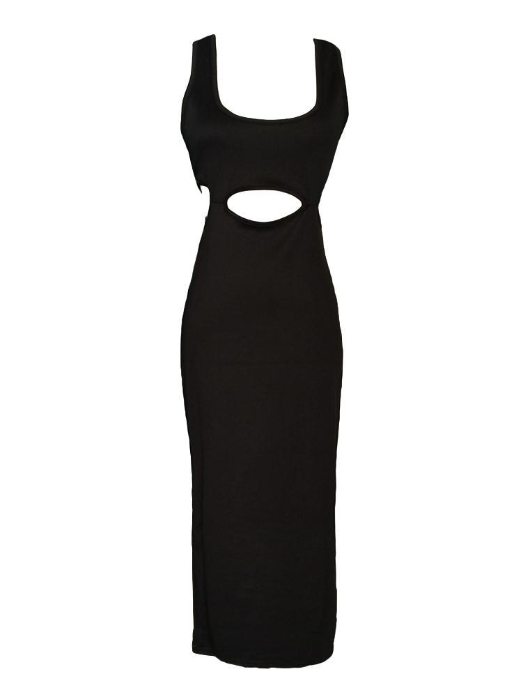 schwarz l Sexy Frauen kleiden Ausschnitte Taille Kreuz zurück ...