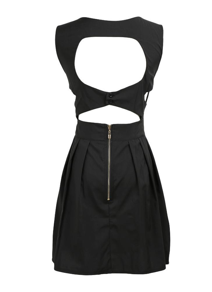 Новые сексуальные женщины мини платье с открытой спиной вырезать V шеи платье без рукавов коктейль вечеринка вечером черный/белый/синий