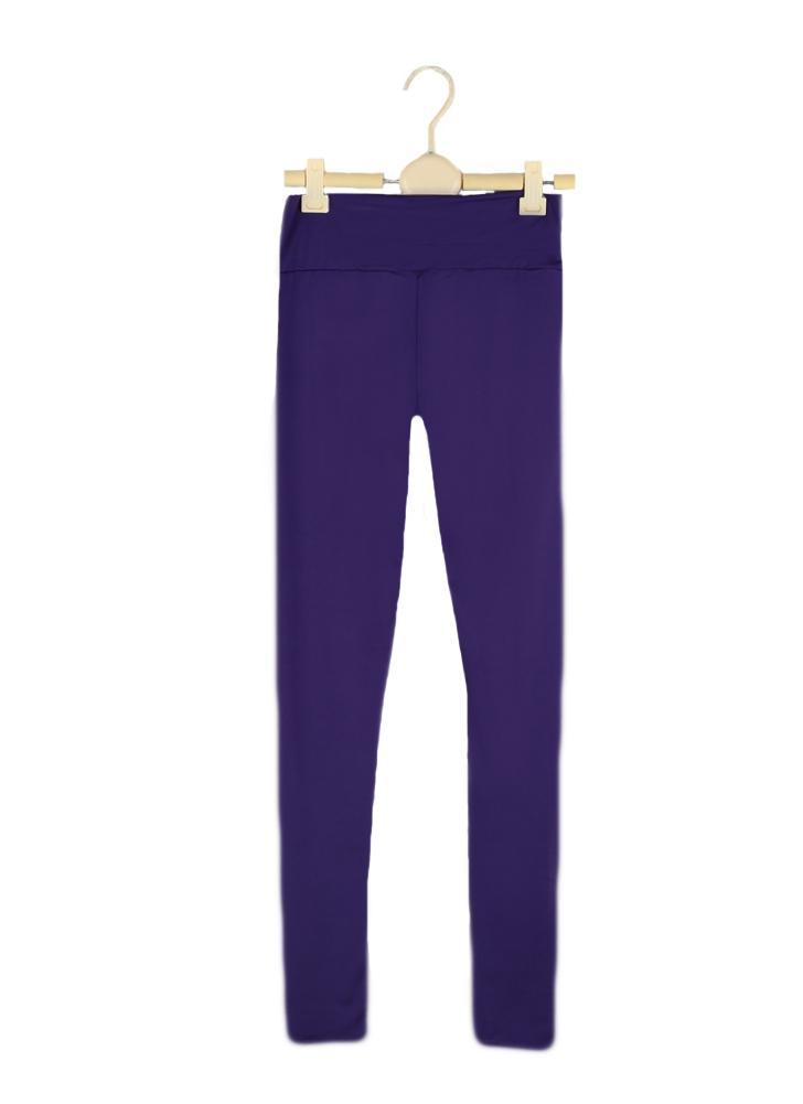 Fashion femmes Leggings Fitness Candy couleur taille élastique extensible Yoga  Sport Running Pants pantalon df2eba61b4e