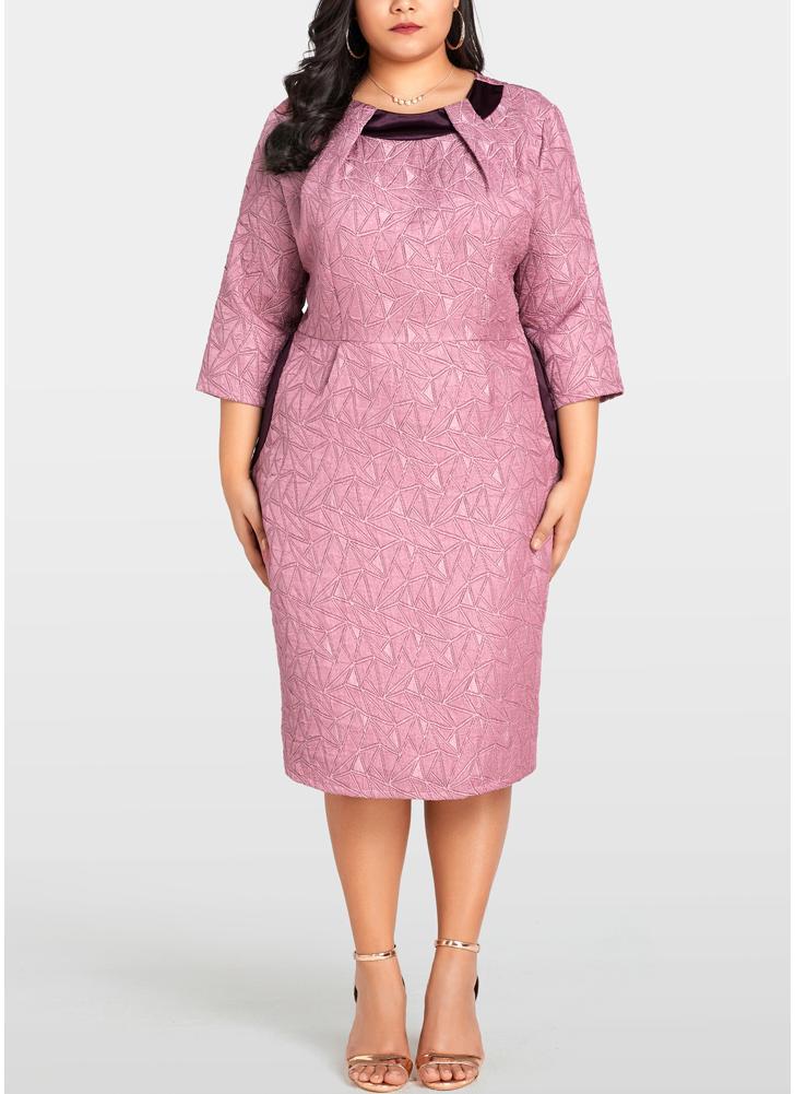 999e26dc1d5 Robe mi longue moulante rose – Modèles populaires de robes