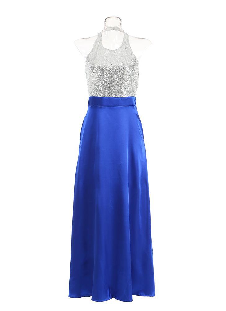 blau 2xl Frauen-trägerloses Kleid-formales Abschlussball-Cocktail ...