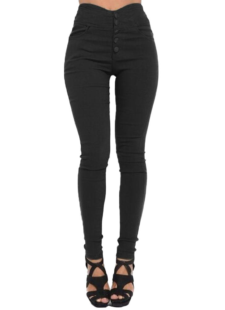 Plus Size High Waist Skinny Pants Elastic Stretchy Leggings