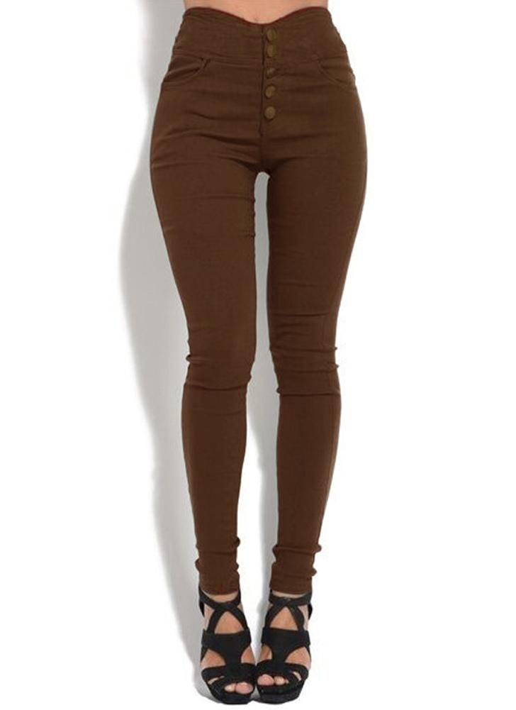 Plus Size High Waist Skinny Pants Elastic Stretchy Leggings