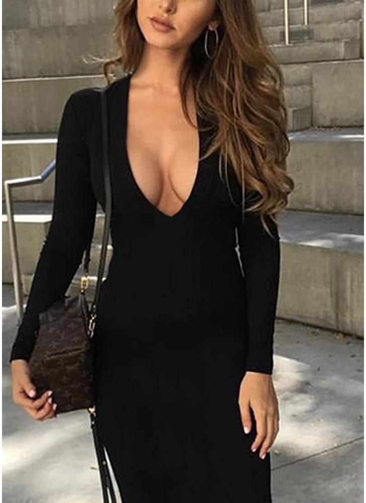 Women Bodycon Dress Cut Out Bandage Backless Party Club Slim Midi Dresses