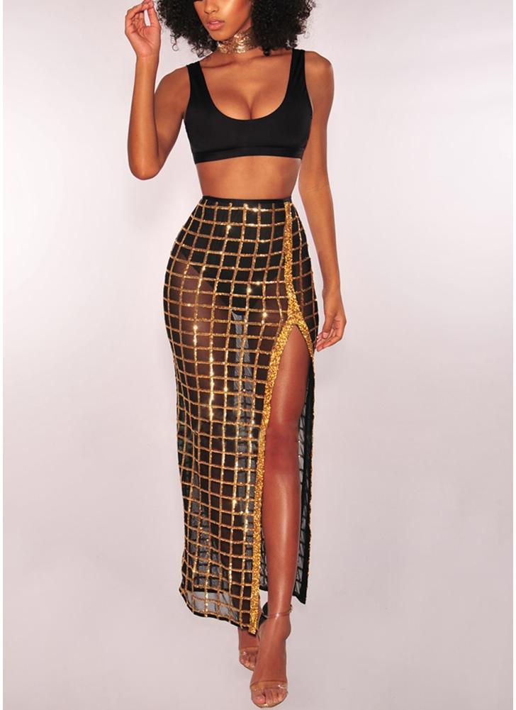 Шикарная юбка с сетчатой сеткой