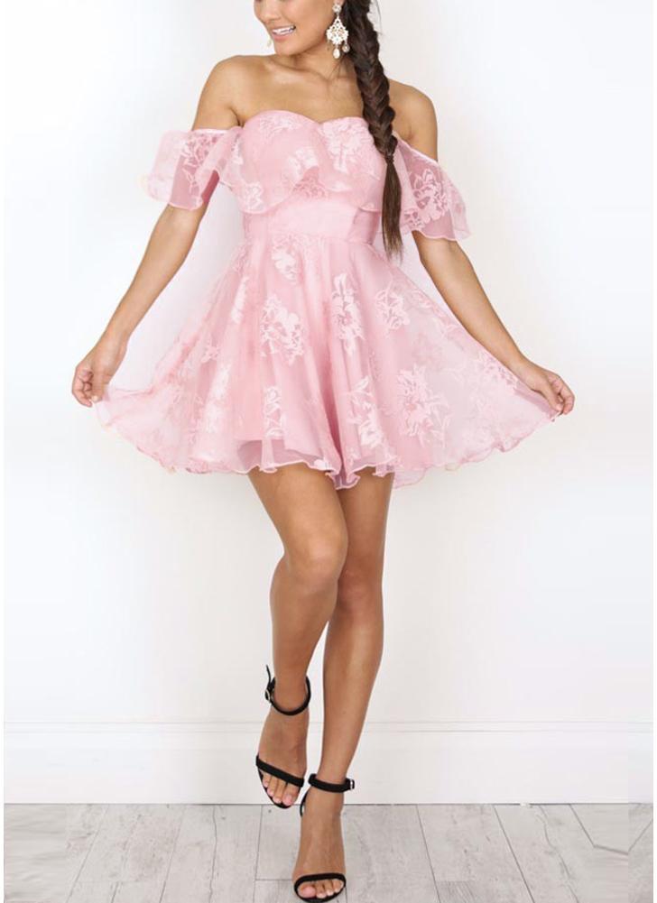 Au large des épaules volants en maille Jacquard dos nu sans manches élégante Mini robe Vintage