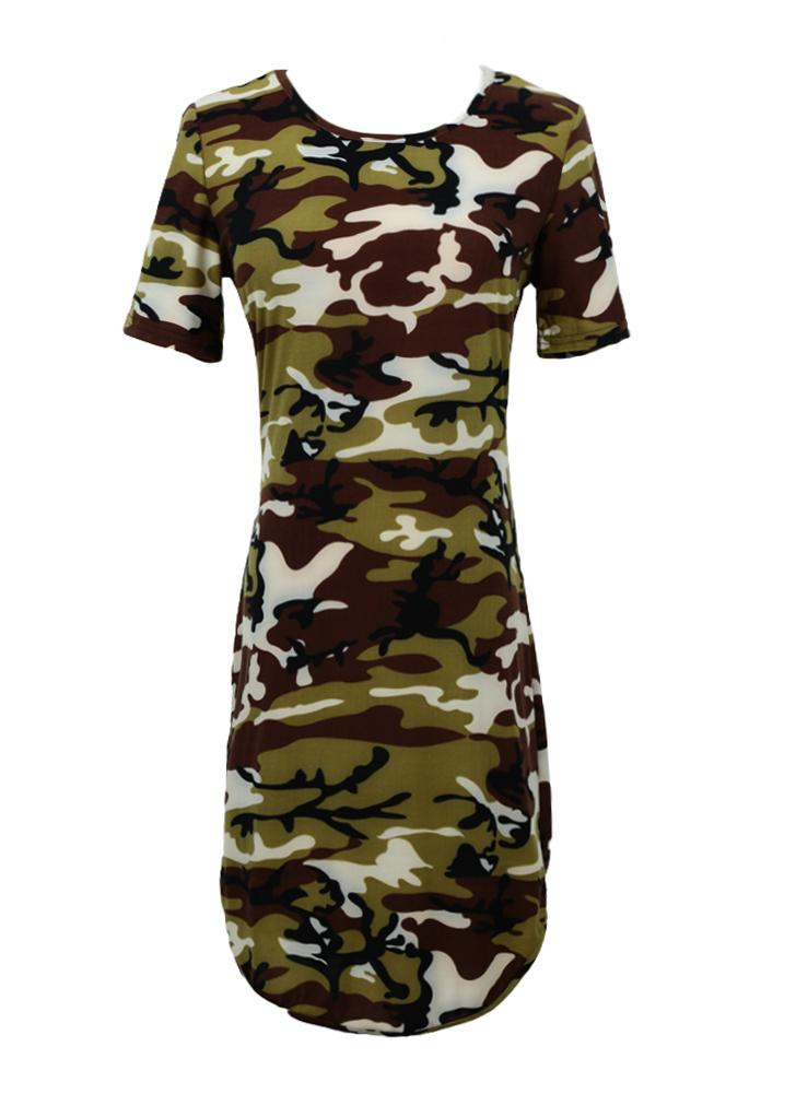 Sexy camouflage dress