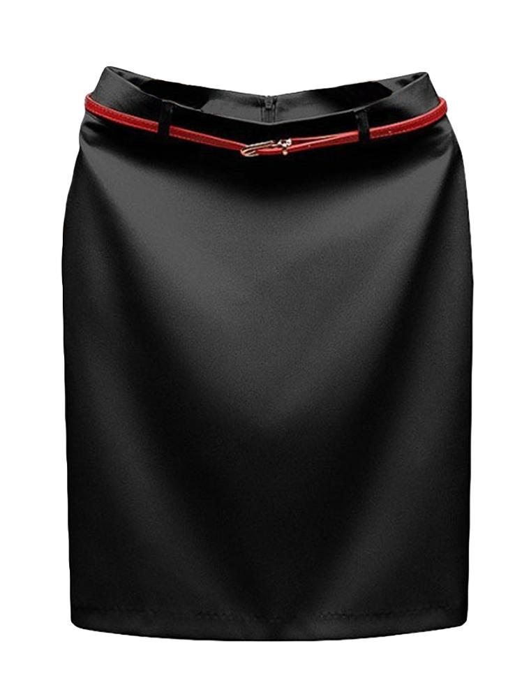 Europa Sexy faldas las mujeres OL Mini falda Color sólido cremallera cierre ocasional Bodycon vestidas