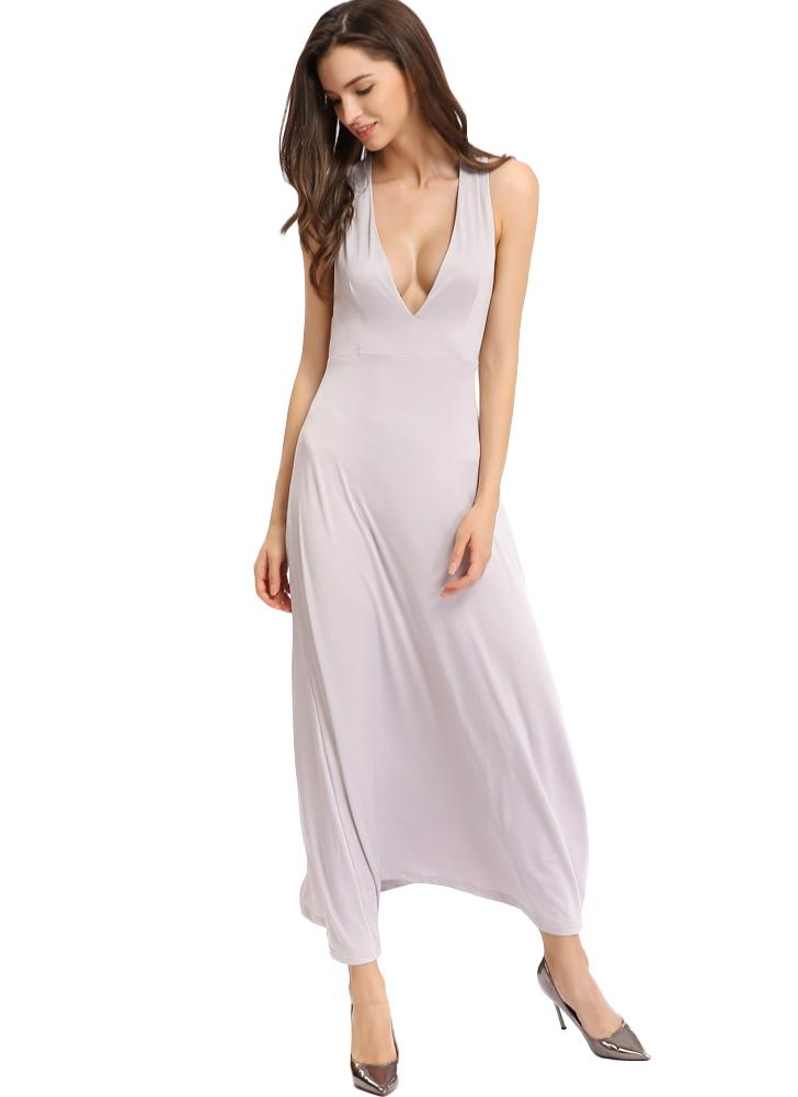 Spaghetti Strap Hollow Out Backless Dress