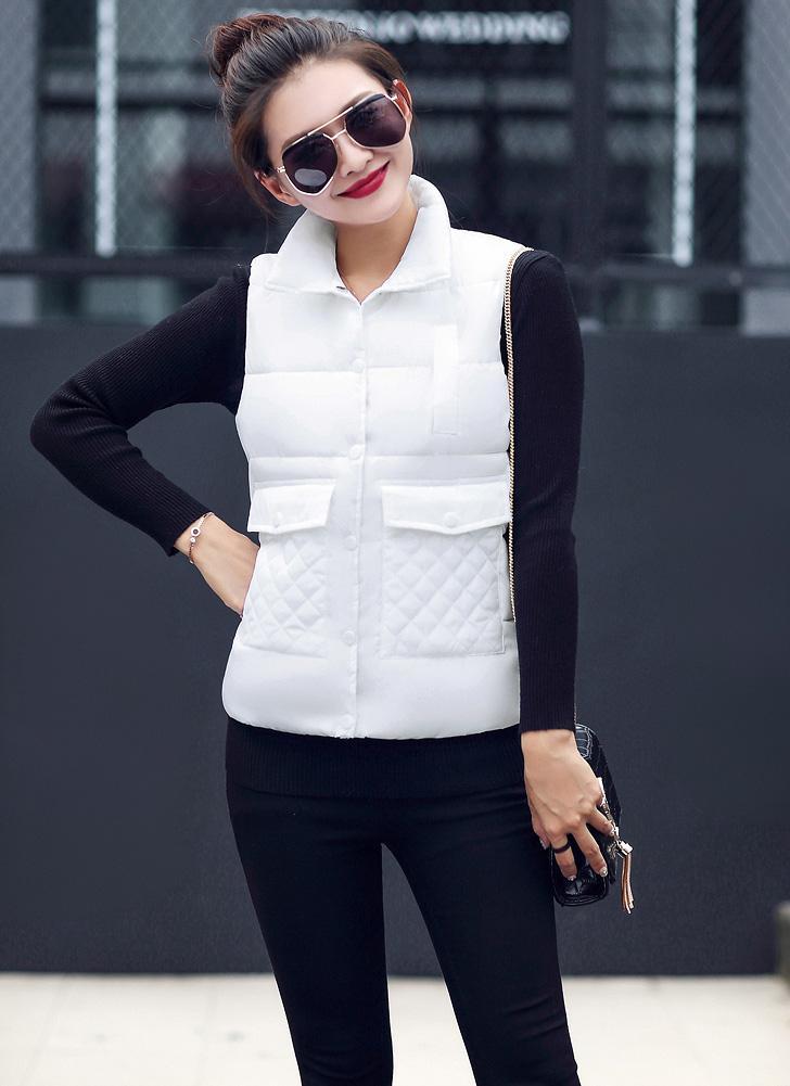 1659d91173e1 Neue Frauen-Winter-Weste-Westen-Down-Baumwolljacke Solide Sleeveless  Taschen starke