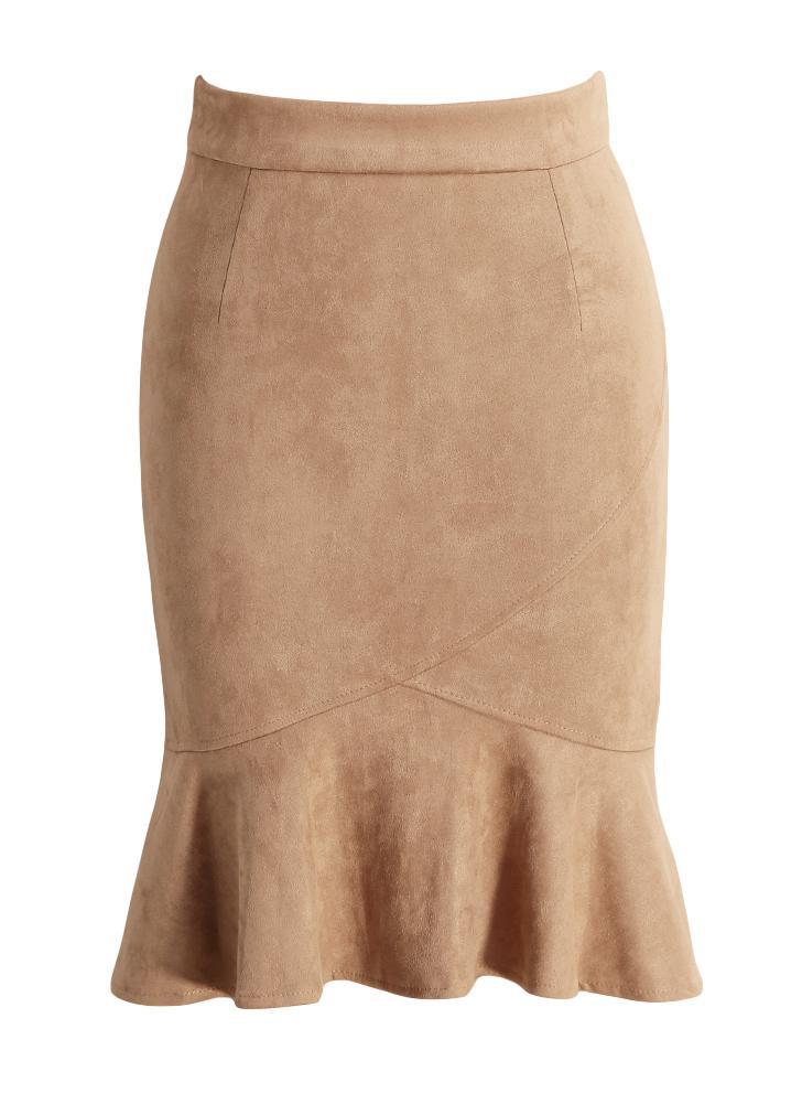 Nueva elegante ante de las mujeres de la falda de la colmena de la sirena de f416cec6990c