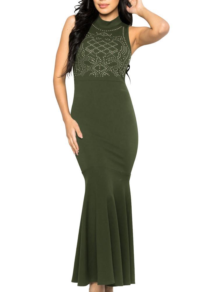 c136324231abe Meerjungfrau Kleid Kleid Bodycon ärmelloses Cocktail Abend Party Ball  langes Kleid