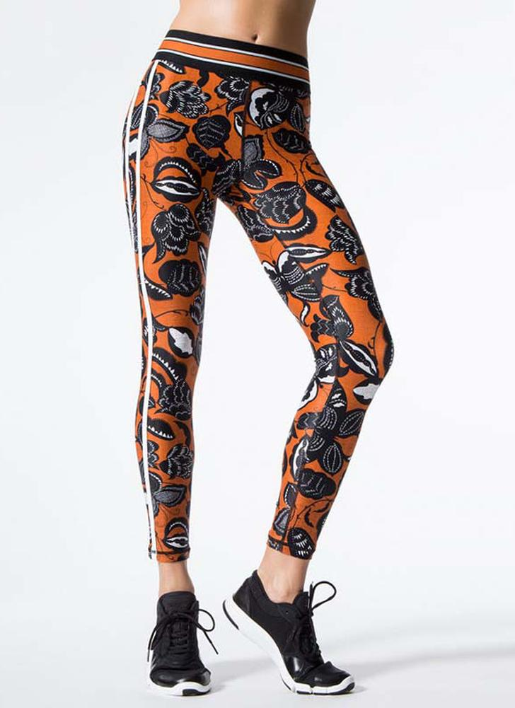 Women Fitness Yoga Pants Leggings Esportes Floral Print Mights Workout Running Skinny Casual Trousers