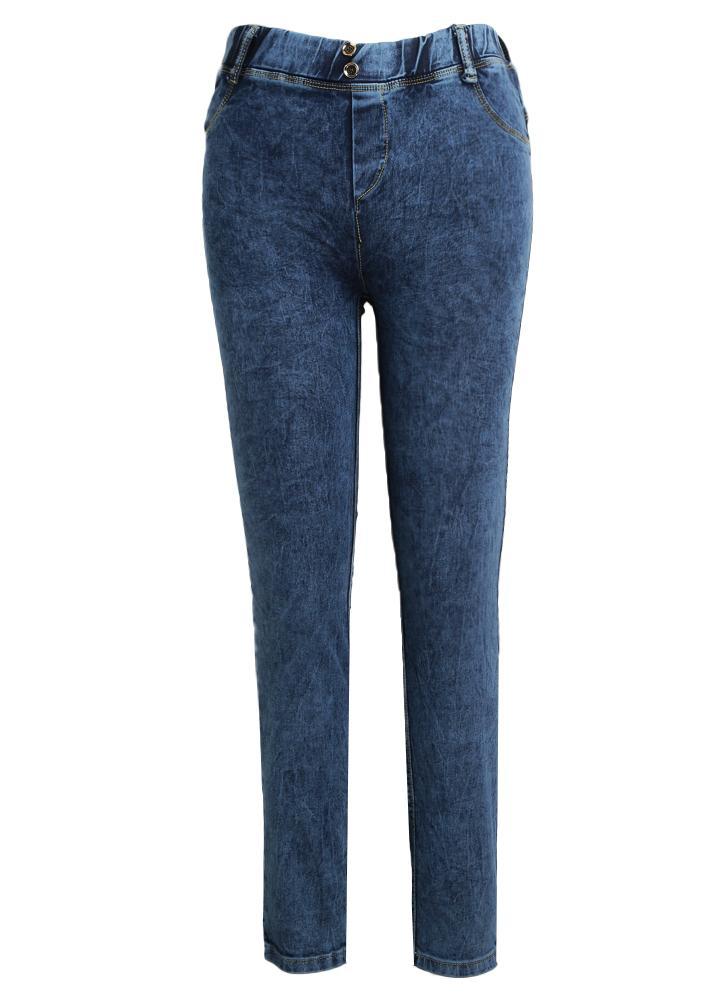 Sexy Frauen-Hüfte drücken Bleistift keucht niedrige Taillen-Denim-Jeans 0acfb13a82