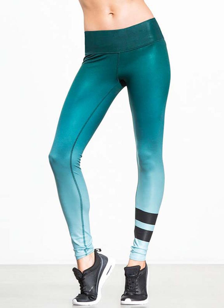 2d580ebaad73 Sexy Frauen-Sport-Yoga-dünne Gamaschen-Steigung-gestreifter Bleistift  keucht Hosen