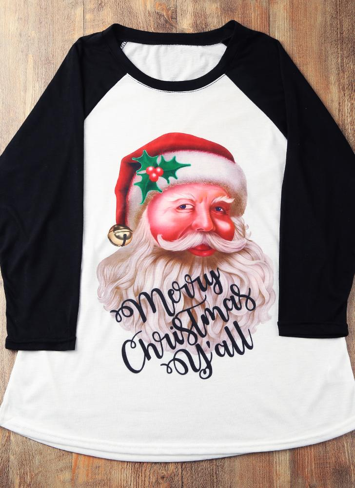 weiß 2xl Mode Frauen Weihnachten Plus Size T-Shirt 3/4 Hülsen ...