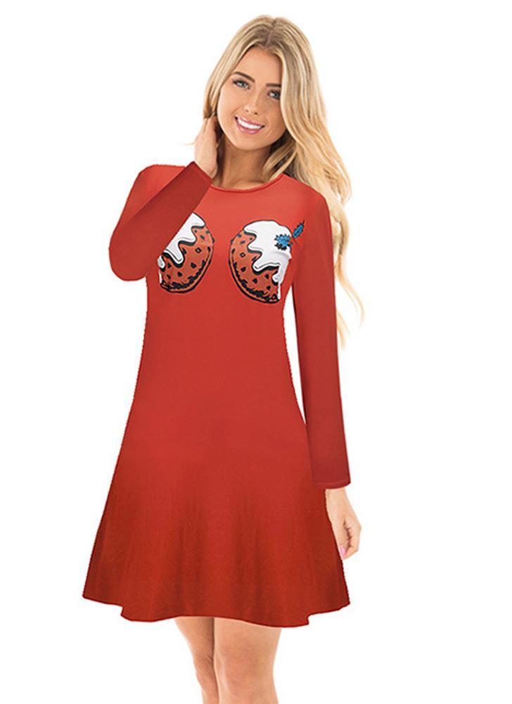 Xl women christmas cartoon santa reindeer dress chicuu