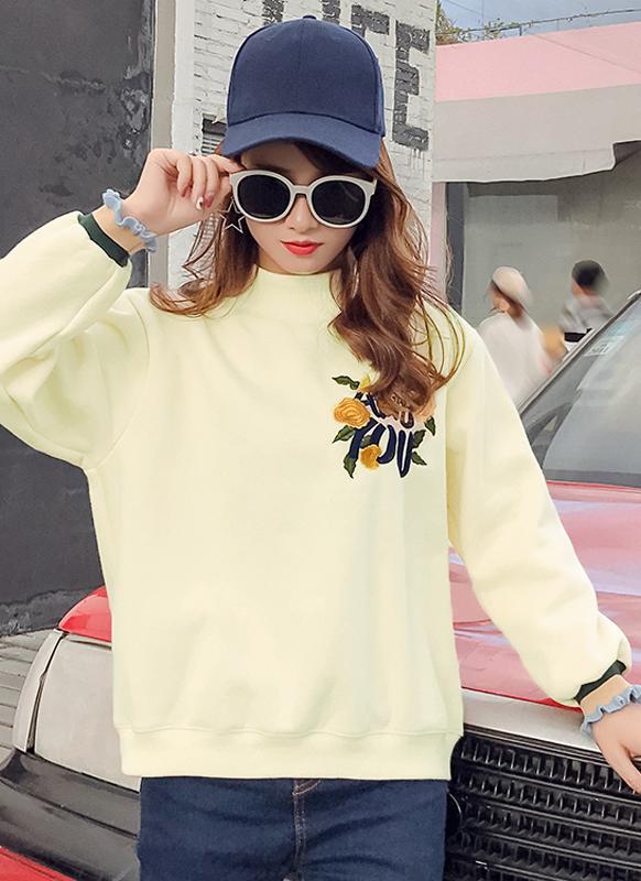 Chic Women Embroidery Hoodies Sweatshirt