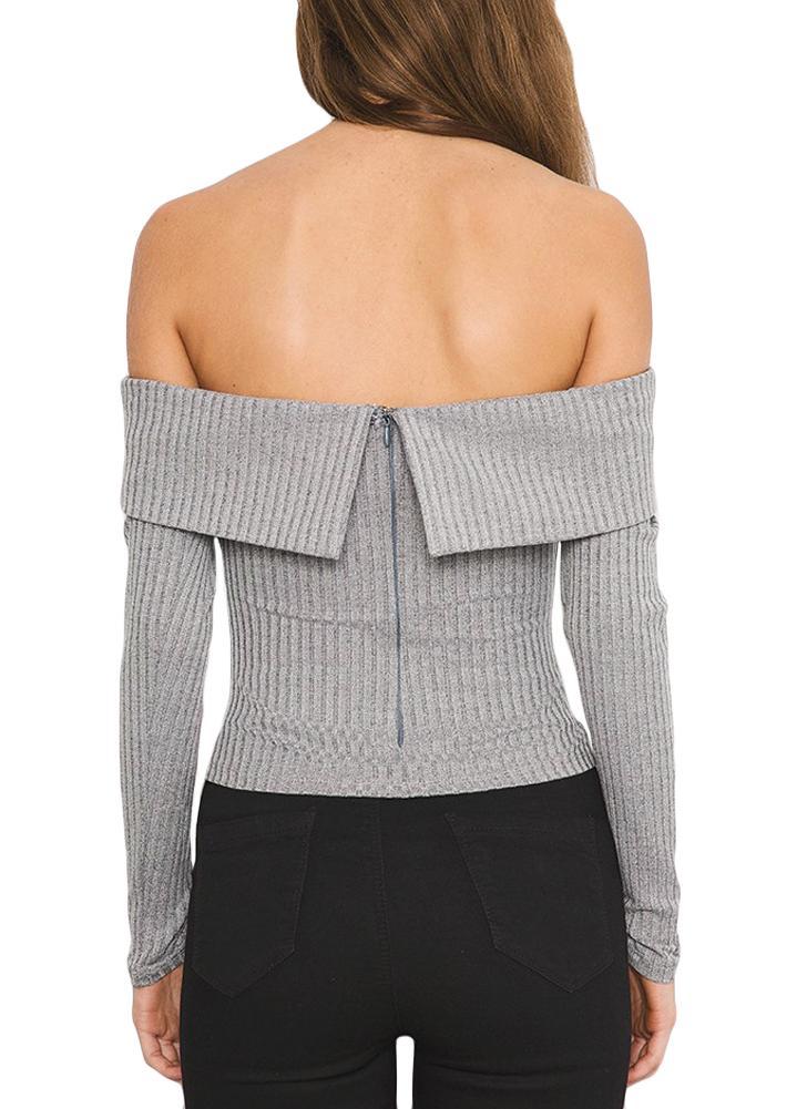 maniche Maglione a a maglia lavorato maniche a lunghe l grigio 80nwNm