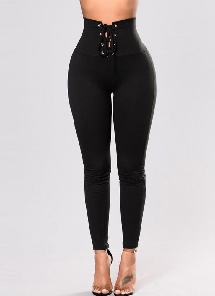 Pantalones Lápiz Mujer Medias Pantalones Pitillo Ocasionales de Cintura  Alta Stretch Leggings 4f74b81e98bb