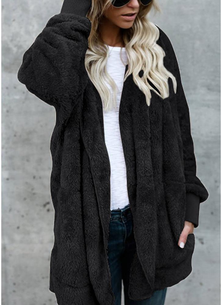 Manteau long polaire femme