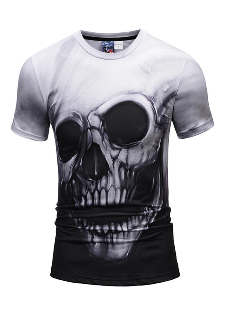 T-shirt à manches courtes 3D Motif d'impression vif style lâche pour les femmes