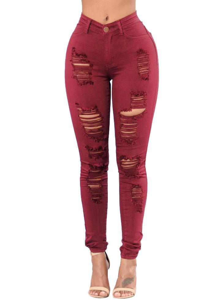 Vintage Frauen Bestickte Jeans Hohe Taille Taste Reißverschluss Taschen Dünne Bleistift Denim Hosen Plus Größe weiblich Stretch Jeans XXXL