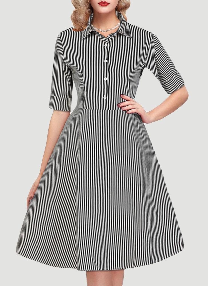 Vestito da festa elegante A-Line da swing elegante da swing 1960s 1960s  Rockabilly ff813b7295d