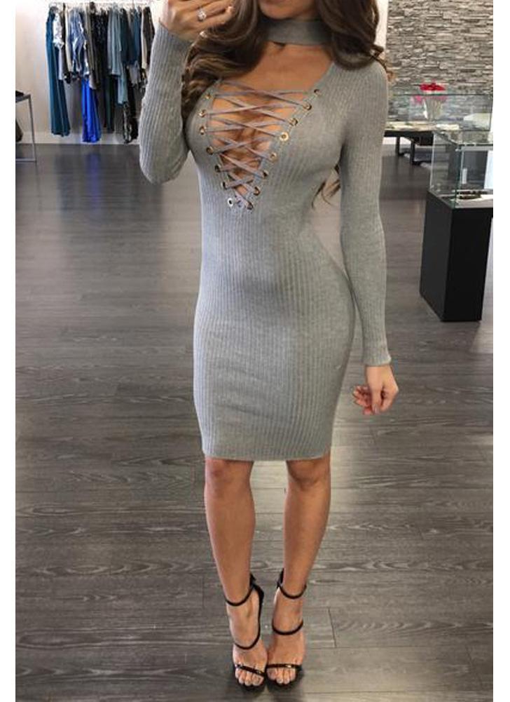 Сексуальное трикотажное платье