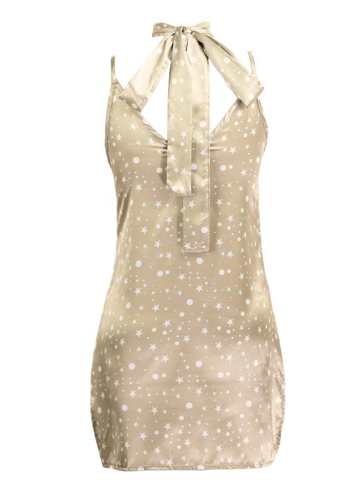 Новое сексуальное женское платье Slip V-образным вырезом с коротким рукавом