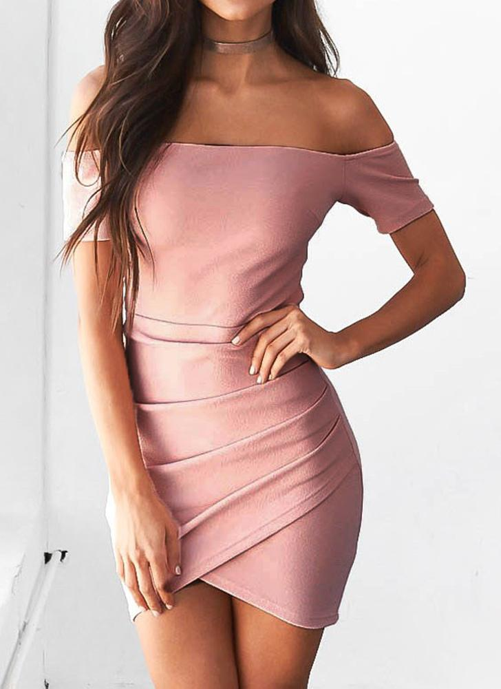 l Vestido atractivo Bodycon de espalda asimétrica con espalda sexy ...